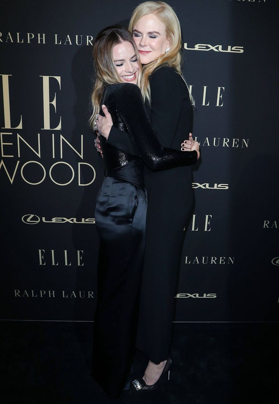 Margot Robbie et Nicole Kidman à la soirée «Elle Women In Hollywood» à Beverly Hills le 14 octobre 2019