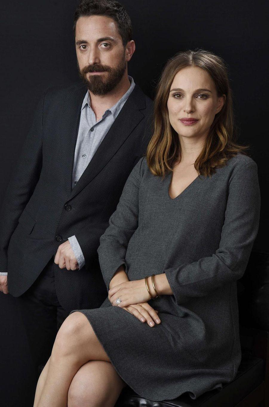 Pablo Larrain et Natalie Portman à Los Angeles.