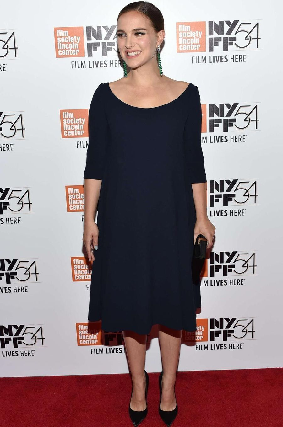 """Natalie Portman lors d'une projection de """"Jackie"""" à New York le 13 octobre 2016."""