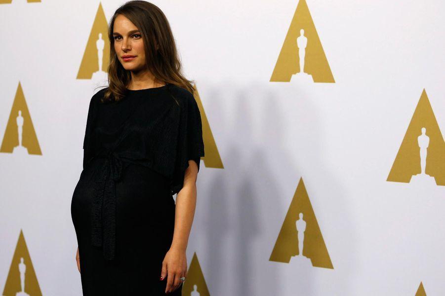 Natalie Portman au 89ème déjeuner pour les nommés aux Oscars.