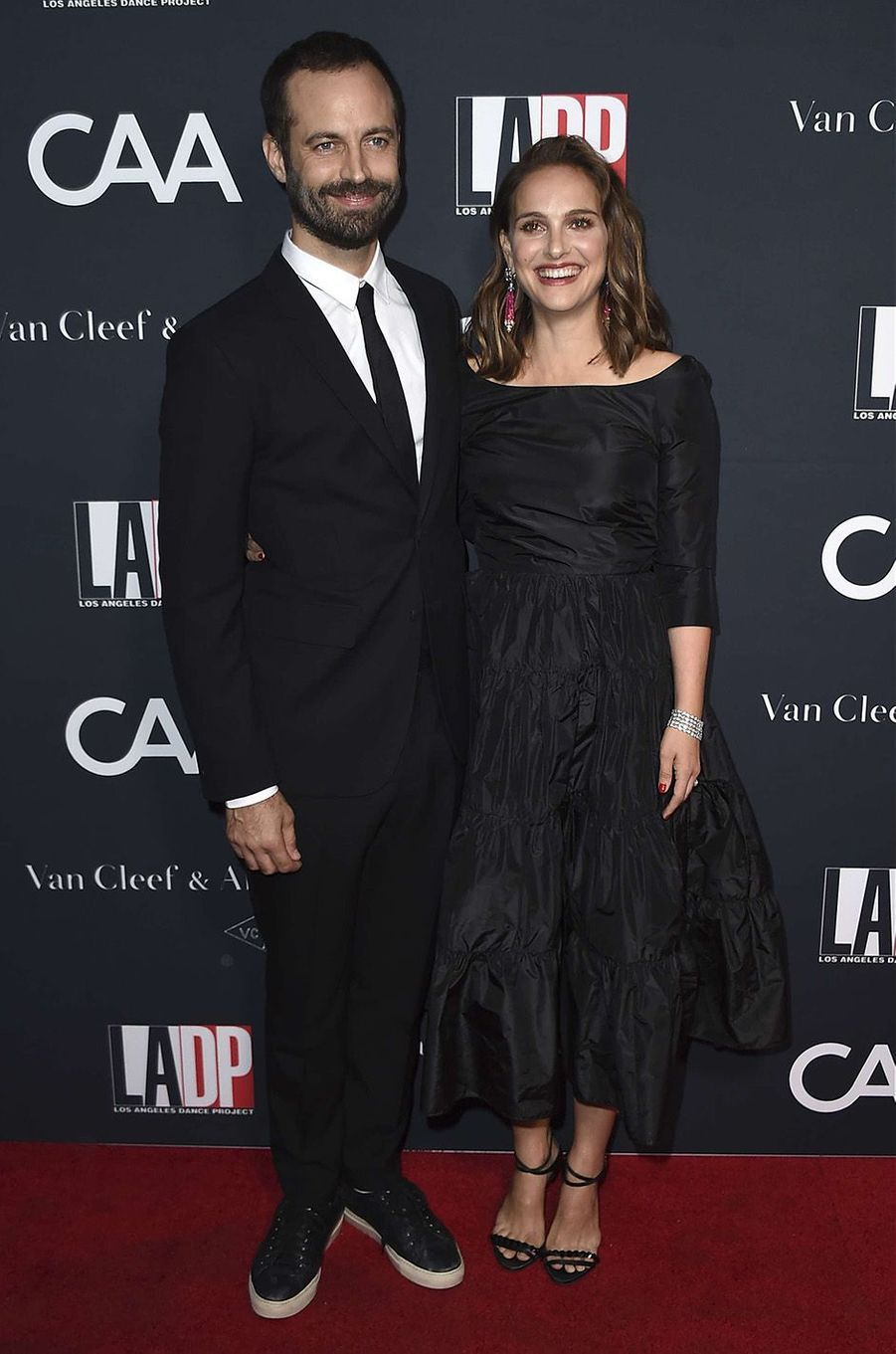 Benjamin Millepied et Natalie Portman sur le red carpet du L.A Dance Project, à Los Angeles, le 7 octobre 2017.