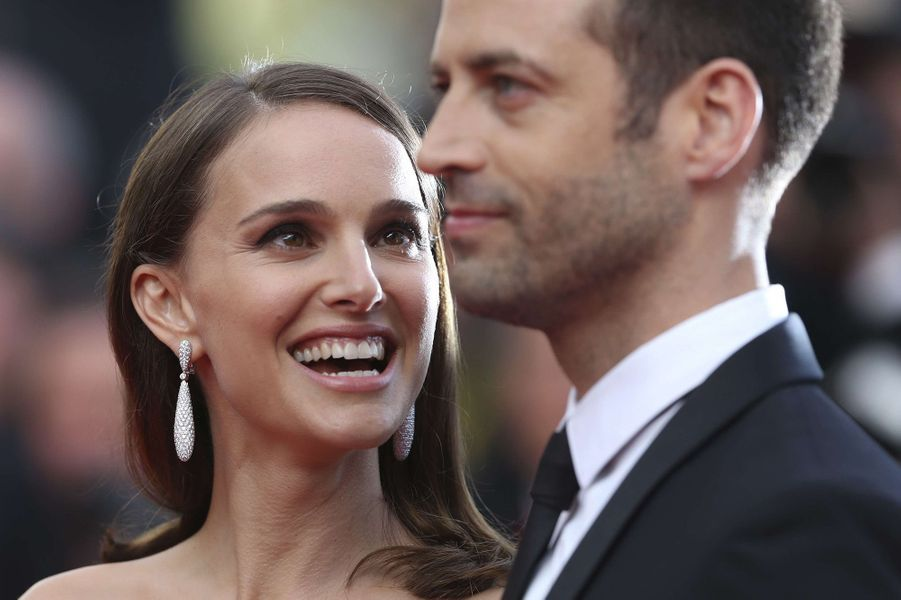 Natalie Portman et Benjamin Millepied à Cannes en 2015.
