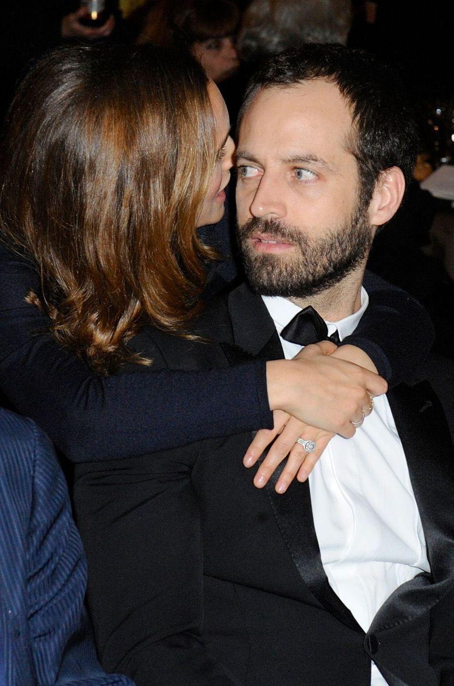 Natalie Portman et Benjamin Millepied à l'Opéra Garnier, en janvier 2015.