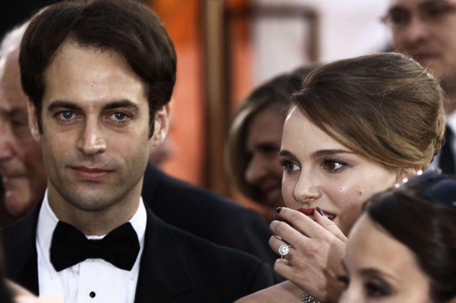 Natalie Portman et Benjamin Millepied à la soirée des Golden Globes, en 2011.