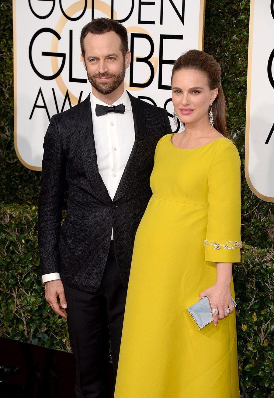 Natalie Portman et Benjamin Millepied aux Golden Globes dimanche