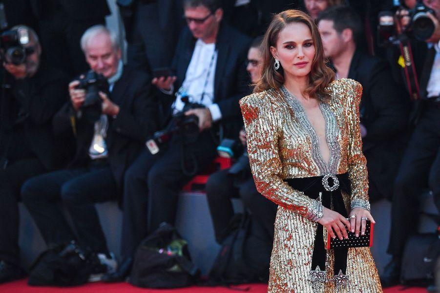 """Natalie Portman à la présentation du film """"Vox Lux"""" lors du 75ème festival du film de Venise, la Mostra, le 4 septembre 2018"""