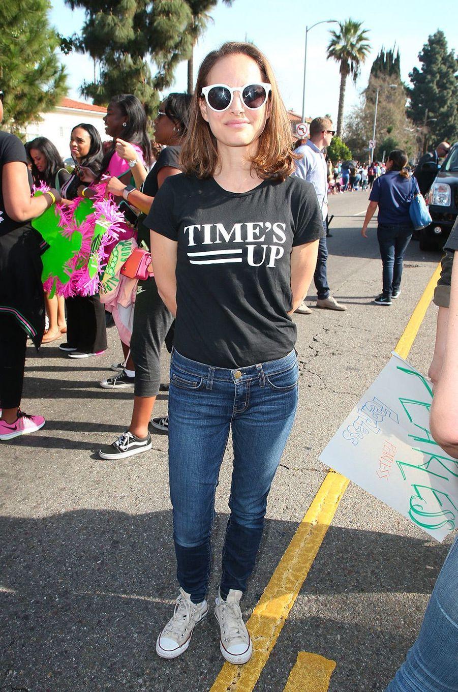 Natalie Portman le 15 janvier 2018 à Los Angeles à la Kingdom Day Parade