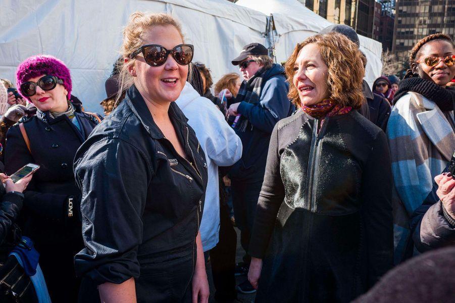 Amy Schumer à la Marche des Femmes à New York
