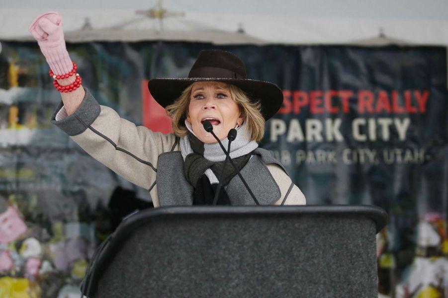 Jane Fondaà la Marche des Femmes