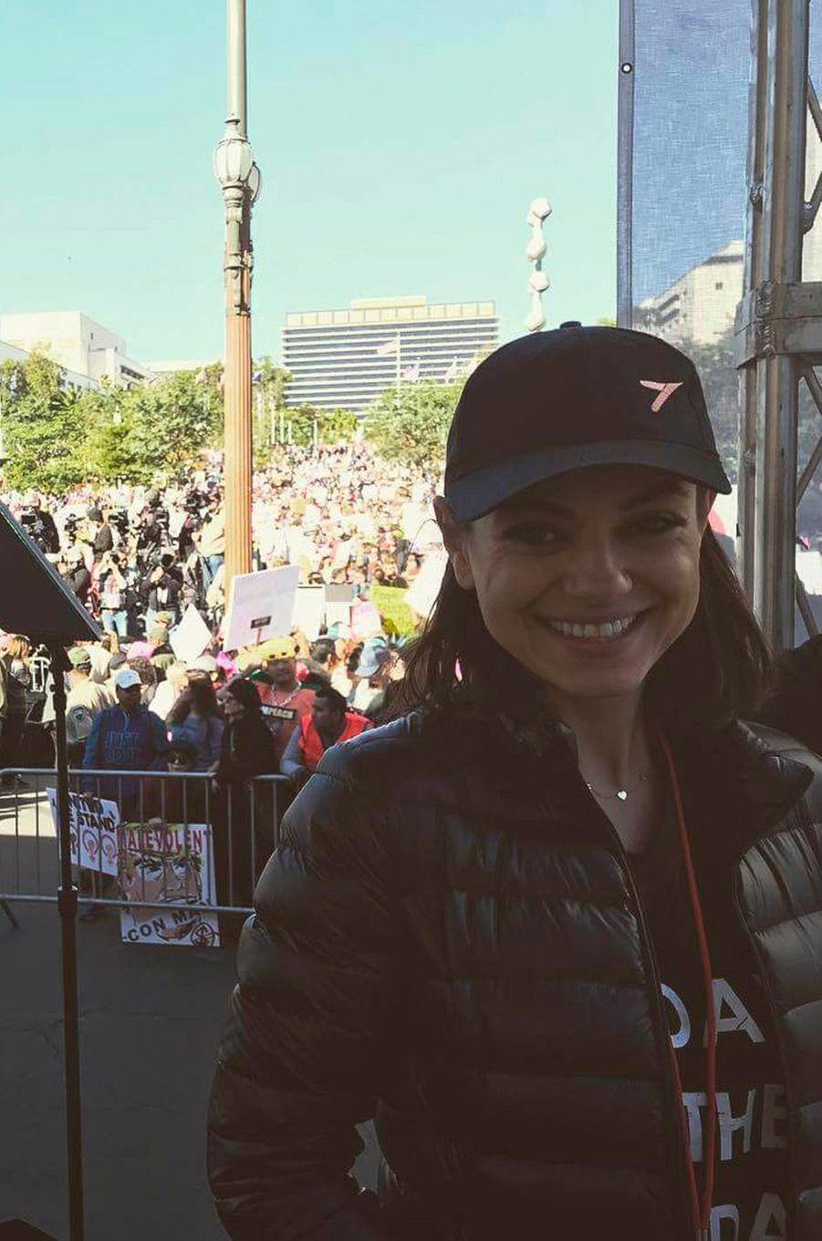 Mila Kunis à la Marche des Femmes