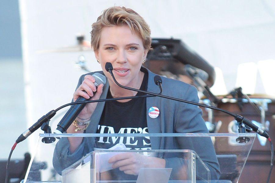 Scarlett Johansson à la Marche des Femmes