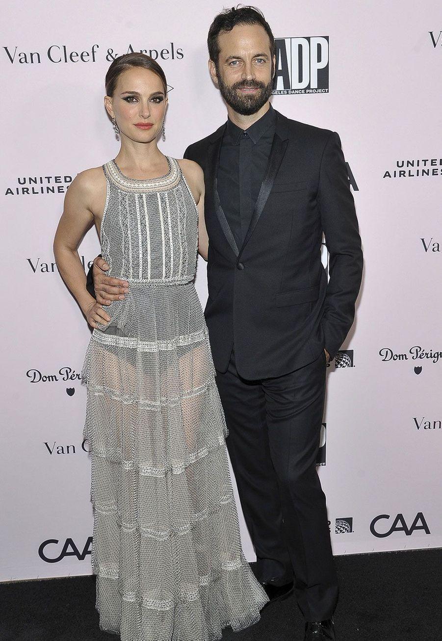 Natalie Portman et Benjamin Millepied à Los Angeles samedi