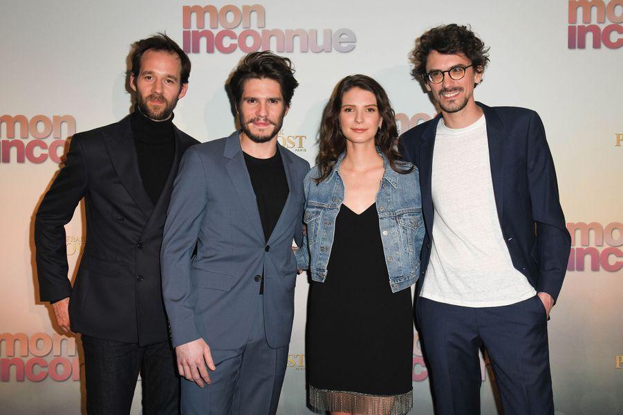 Benjamin Lavernhe, François Civil, Joséphine Japy et Hugo Gélinà Paris, le 1er avril 2019