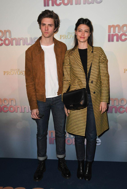 Thomas Solivéres et sa compagne Lucie Boujenahà Paris, le 1er avril 2019