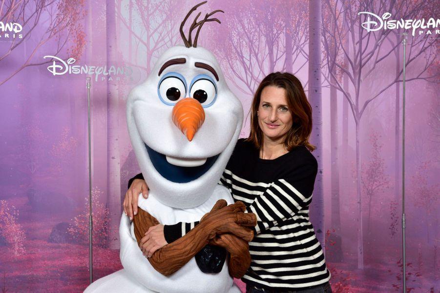Camille Cottinau côté d'Olaf de «La Reine des Neiges».