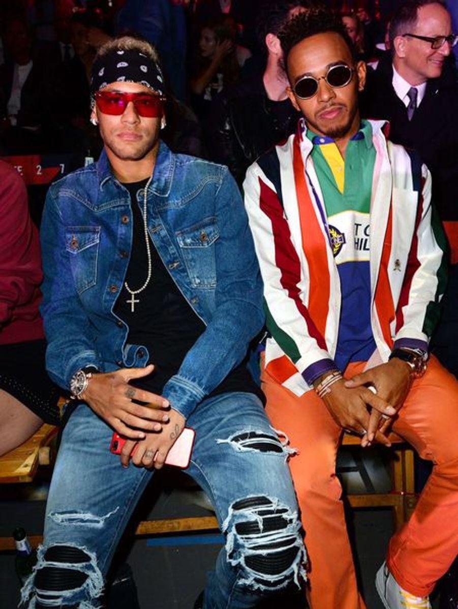 Neymar et Lewis Hamilton à Londres pour la Fashion Week