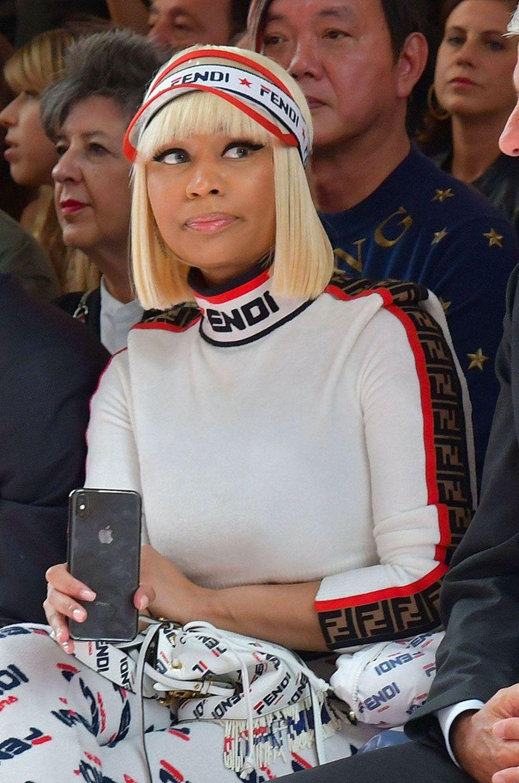 Nicki Minaj au défilé Fendi à Milan le 20 septembre 2018