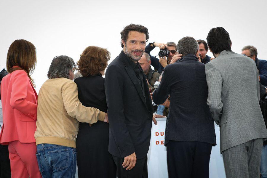 Nicolas Bedos et son équipe lors du photocall du film «La Belle Epoque» à Cannes le 21 mai 2019