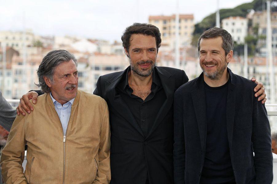 Daniel Auteuil, Nicolas Bedos et Guillaume Canetlors du photocall du film «La Belle Epoque» à Cannes le 21 mai 2019