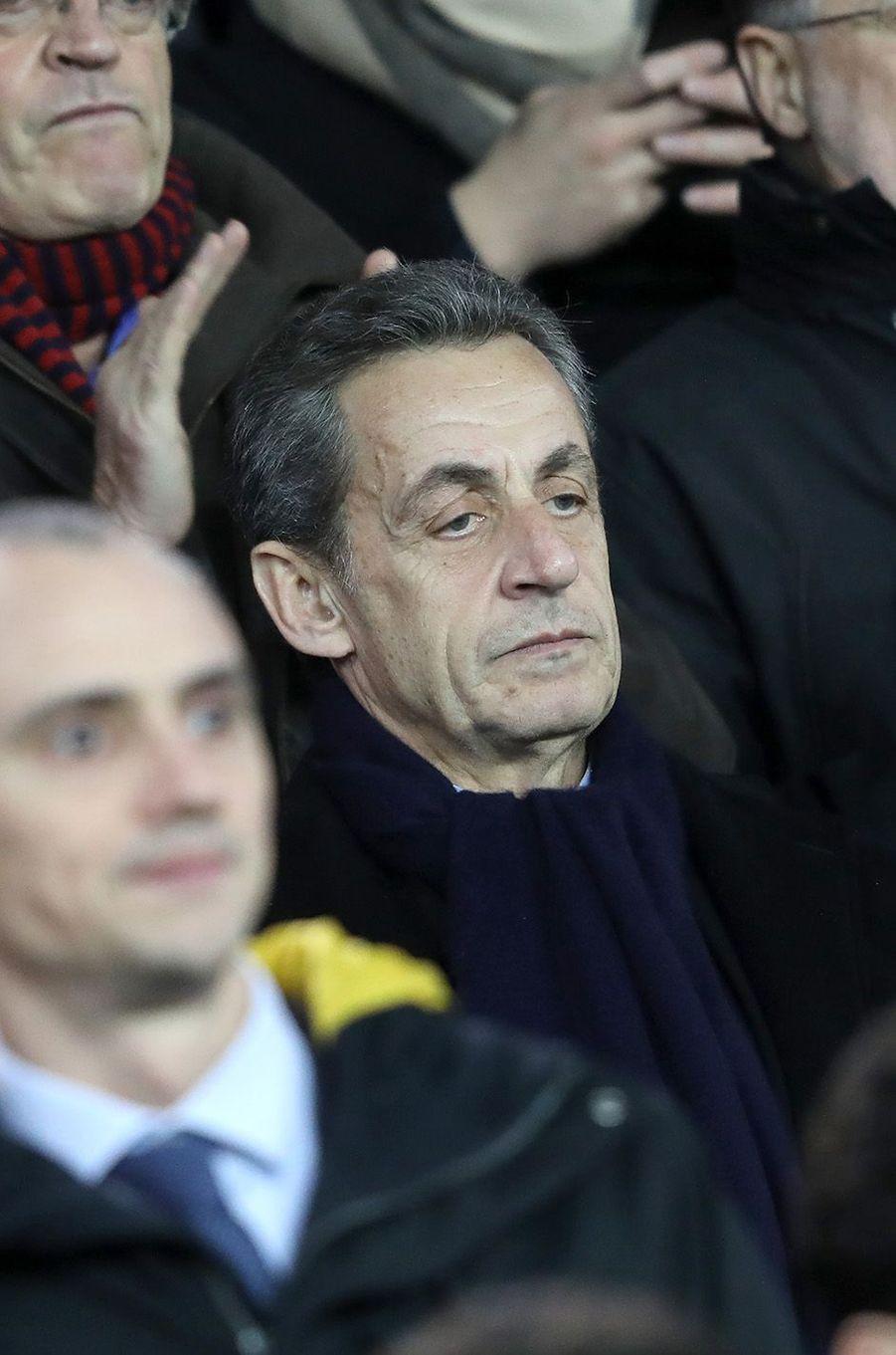Nicolas Sarkozy au Parc des Princes, le 17 janvier 2018.