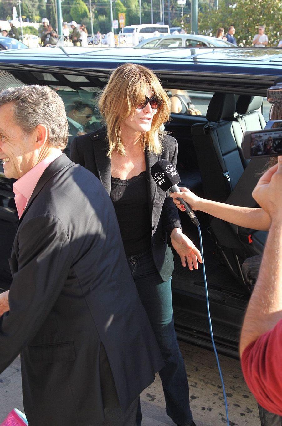 Nicolas Sarkozy et Carla Bruni: deux amoureux à Athènes, le 22 octobre 2017.