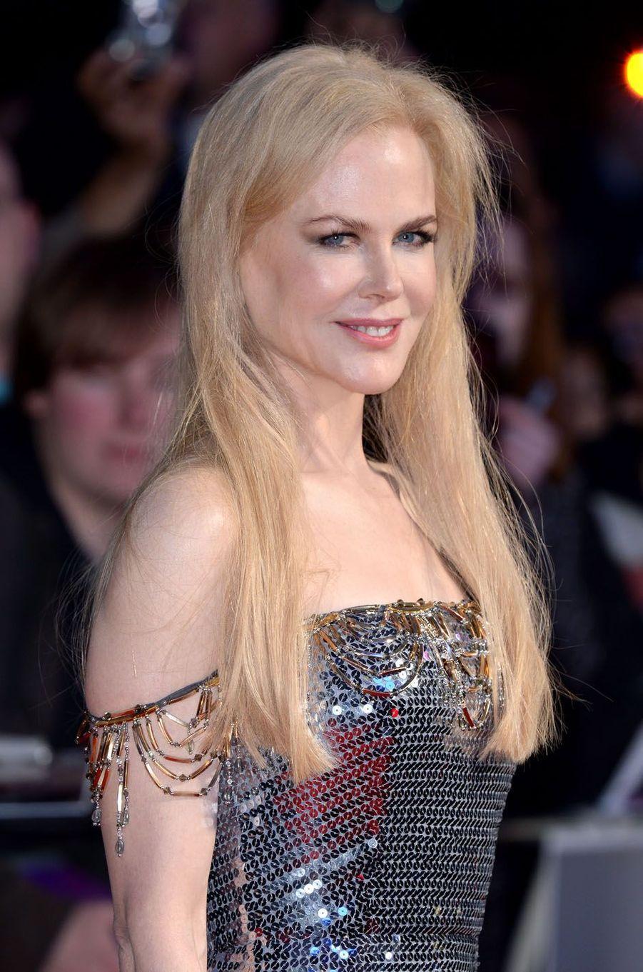 """Nicole Kidmanà l'avant-première de """"Mise à mort du cerf sacré"""" à Londres, le 12 octobre 2017."""