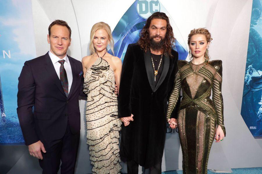 Patrick Wilson, Nicole Kidman, Jason Momoa et Amber Heard