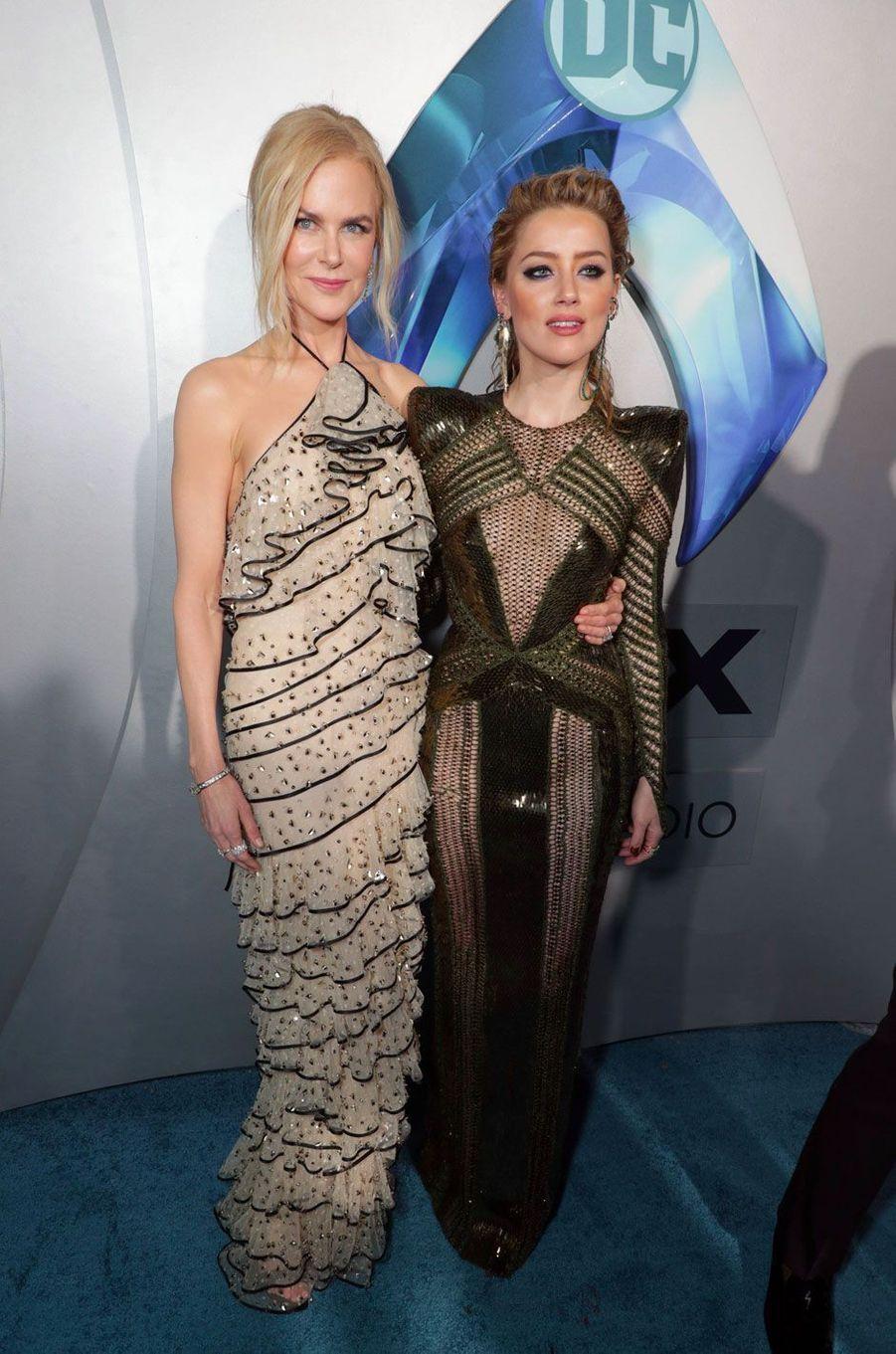 Nicole Kidman et Amber Heard