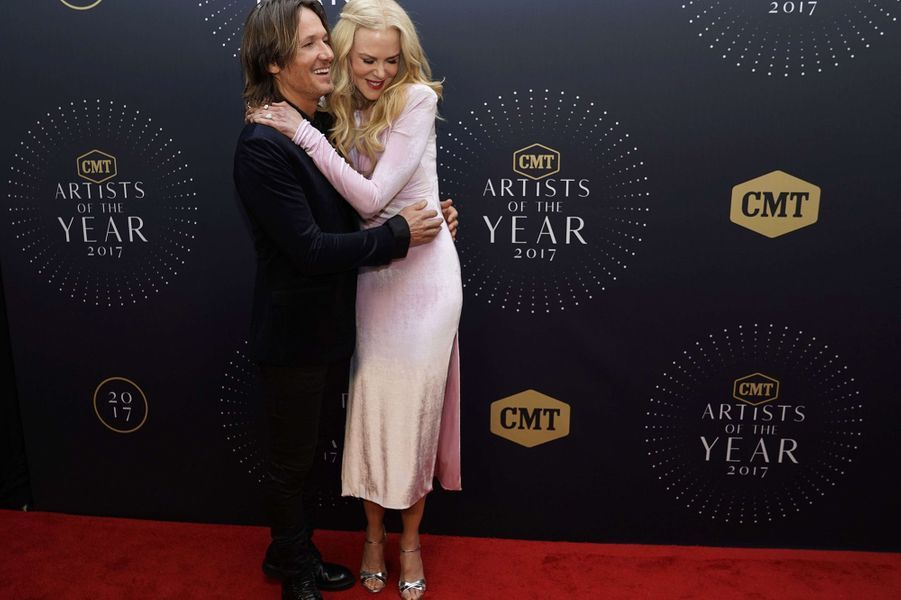 Nicole Kidman et Keith Urban au CMT Awards à Nashville, le 18 octobre 2017.