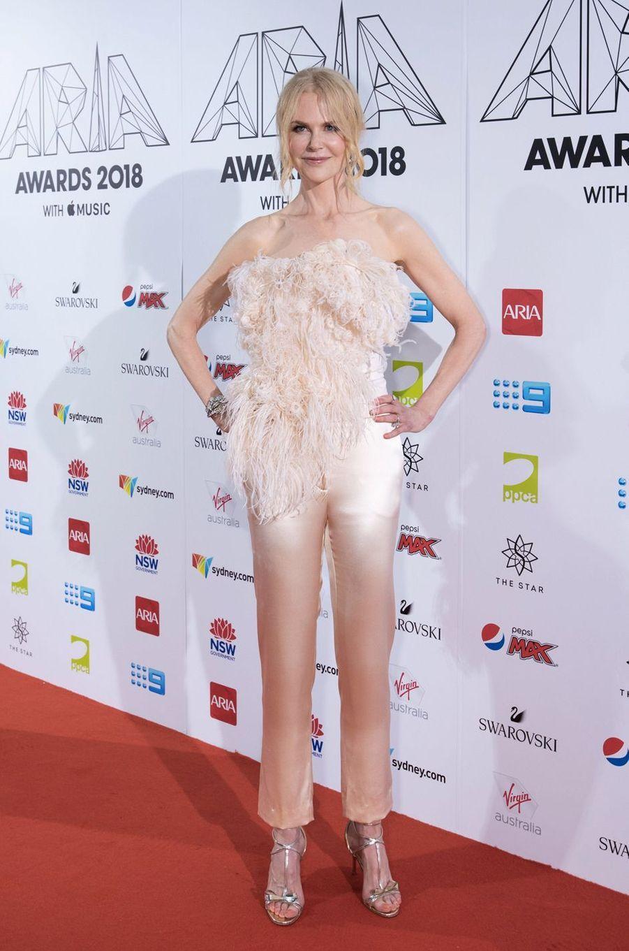 Nicole Kidman aux Aria Awards le 28 novembre 2018 à Sidney