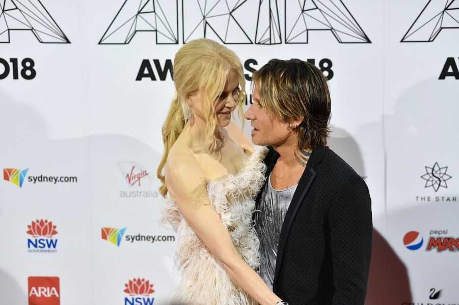 Nicole Kidman et Keith Urban aux Aria Awards le 28 novembre 2018 à Sidney