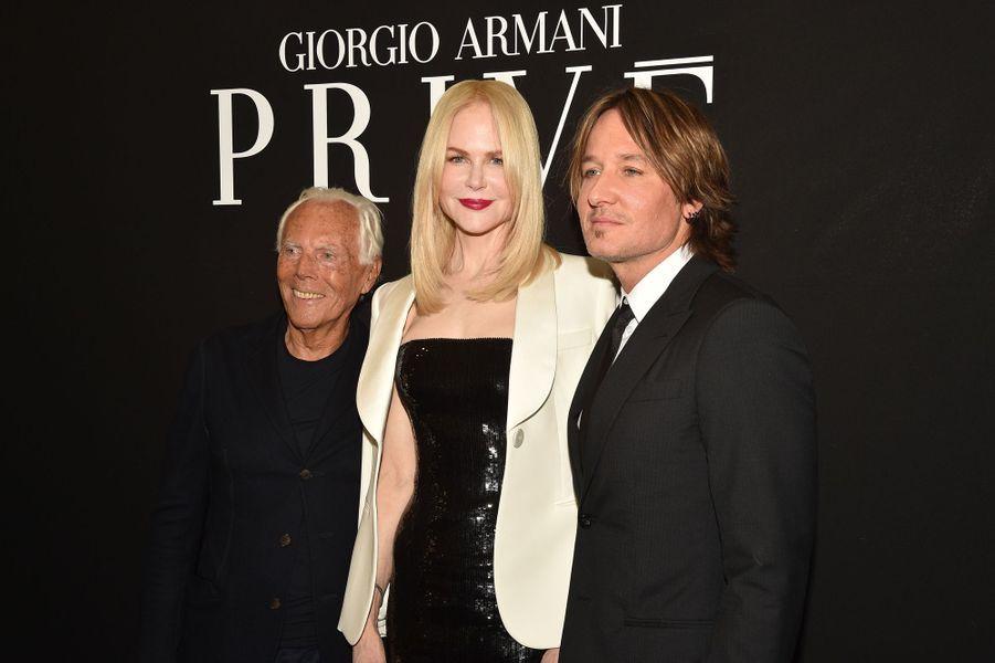 Giorgio Armani, Nicole Kidman et Keith Urban