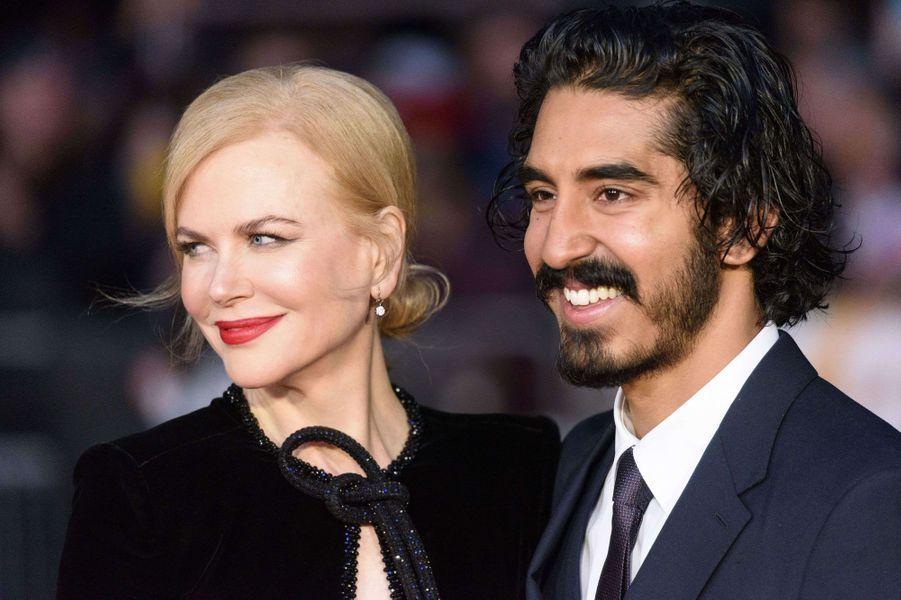 """Nicole Kidman et Dev Patel à Londres pour l'avant-première de """"Lion"""""""