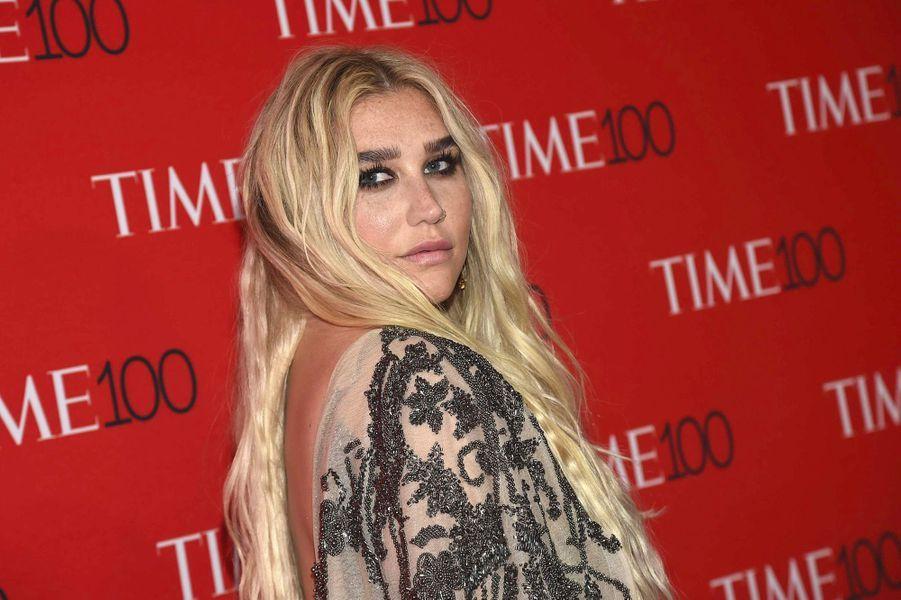 """Kesha à la soirée """"Time 100"""" à New York, mardi 24 avril"""