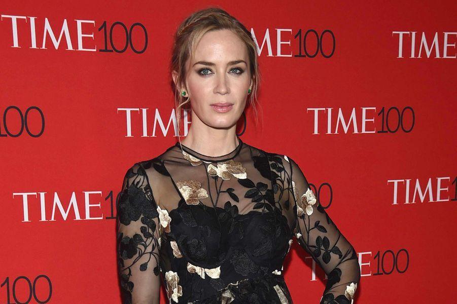 """Emily Blunt à la soirée """"Time 100"""" à New York, mardi 24 avril"""