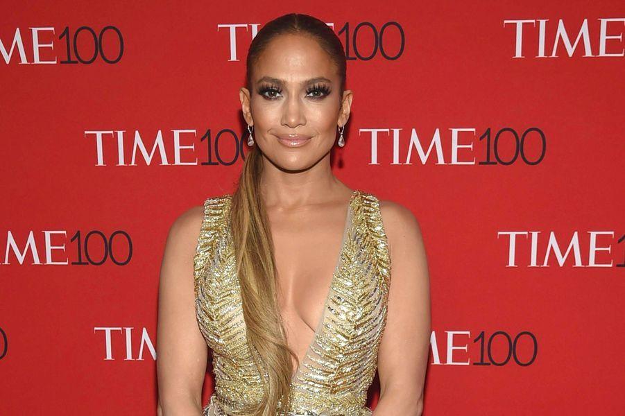 """Jennifer Lopez à la soirée """"Time 100"""" à New York, mardi 24 avril"""