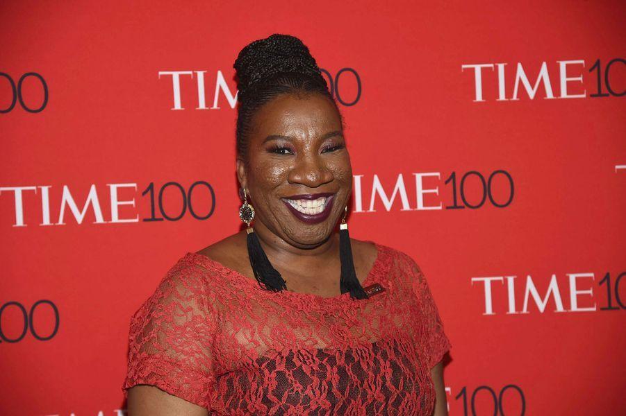 "Tanara Burke, fondatrice du mouvement #MeToo, à la soirée ""Time 100"" à New York, mardi 24 avril"