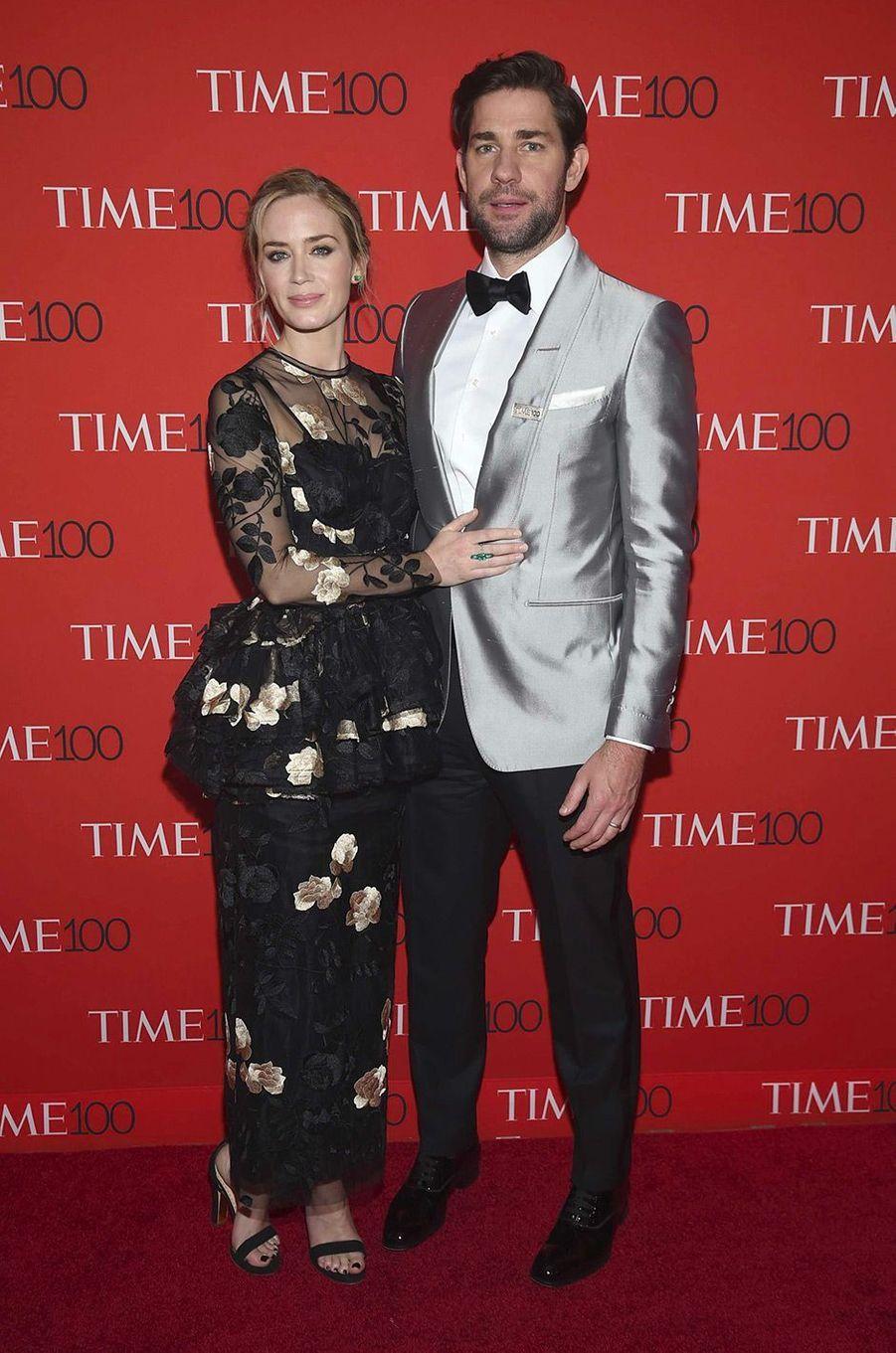 """Emily Blunt et John Krasinski à la soirée """"Time 100"""" à New York, mardi 24 avril"""