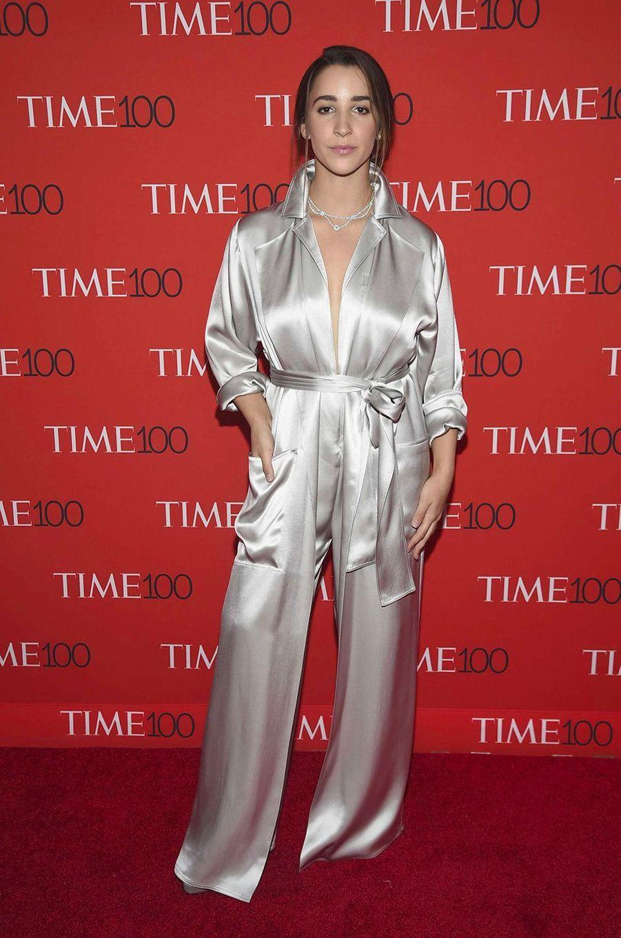 """Aly Raisman à la soirée """"Time 100"""" à New York, mardi 24 avril"""