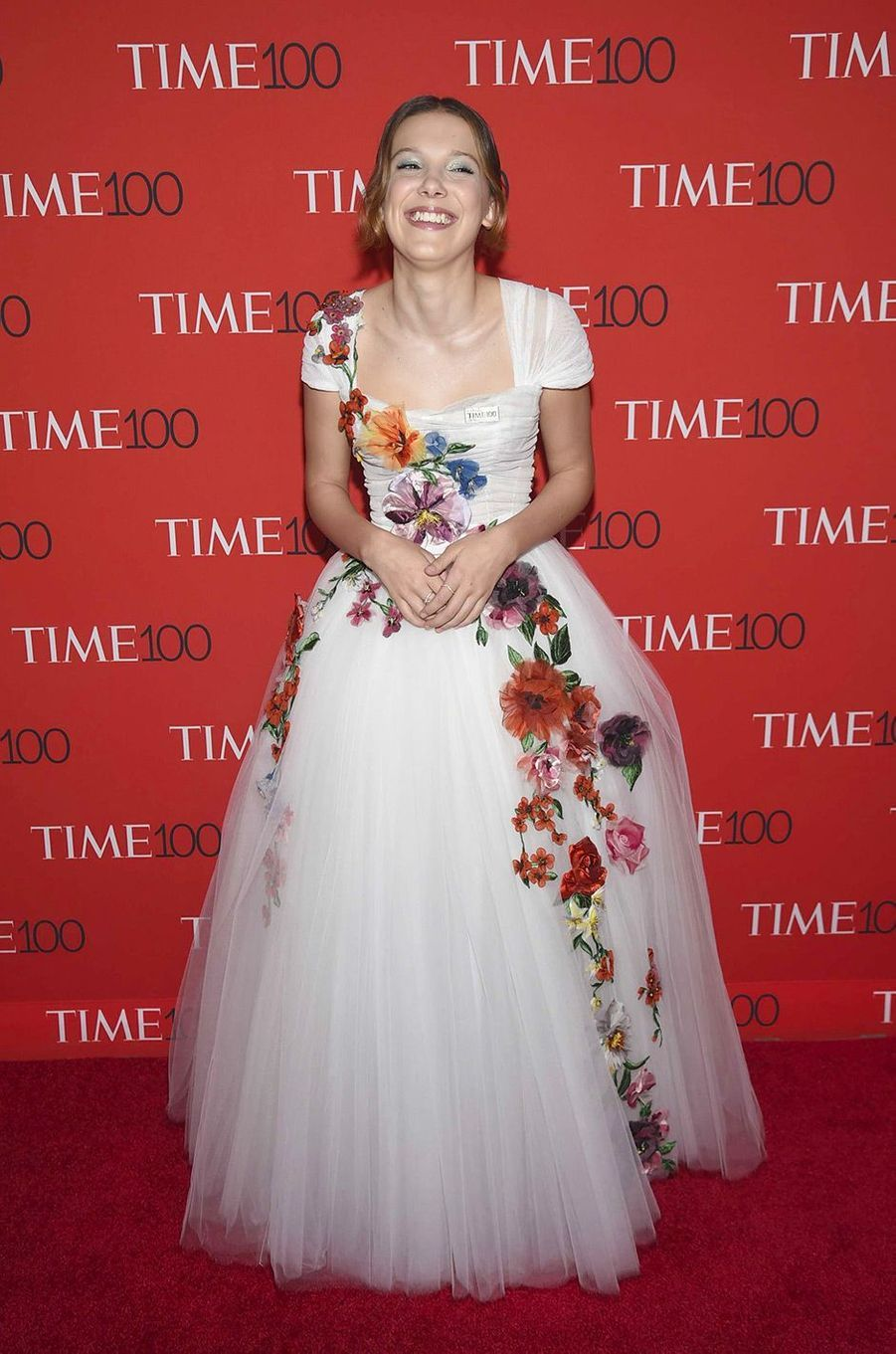 "Millie Bobby Brown à la soirée ""Time 100"" à New York, mardi 24 avril"