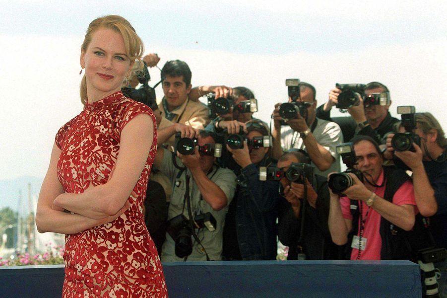 """Nicole Kidman présente """"Moulin Rouge"""" à Cannes."""