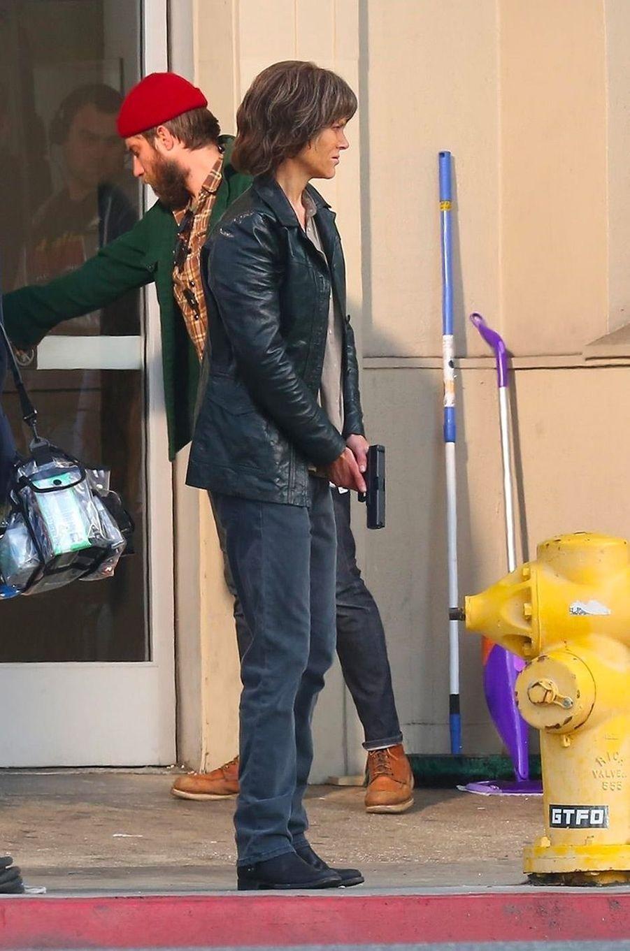 """Nicole Kidman sur le tournage de """"Destroyer"""", de Karyn Kusama"""