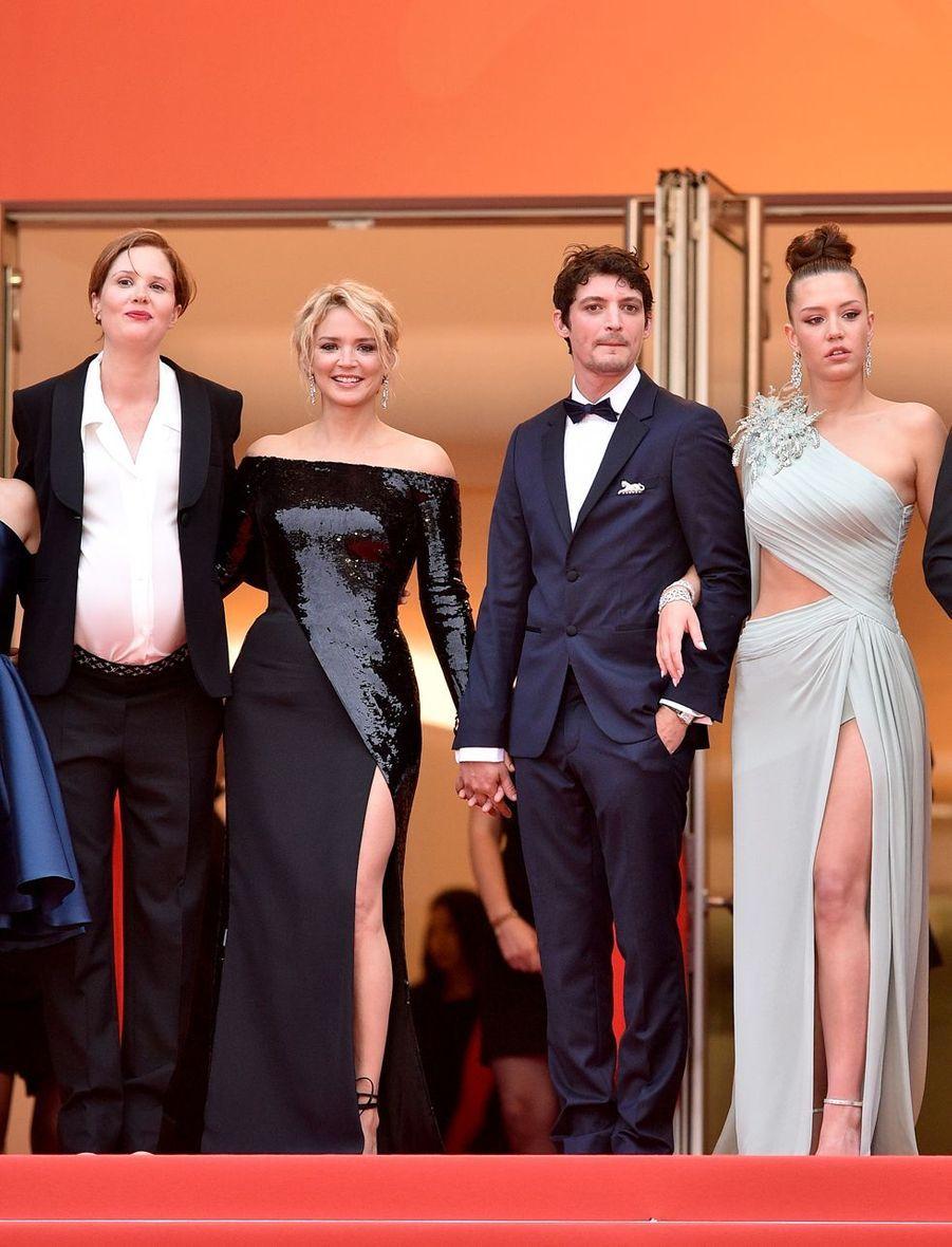 Justine Triet, Virginie Efira, Niels Schneider et Adele Exarchopoulos à Cannes, le 24 mai 2019