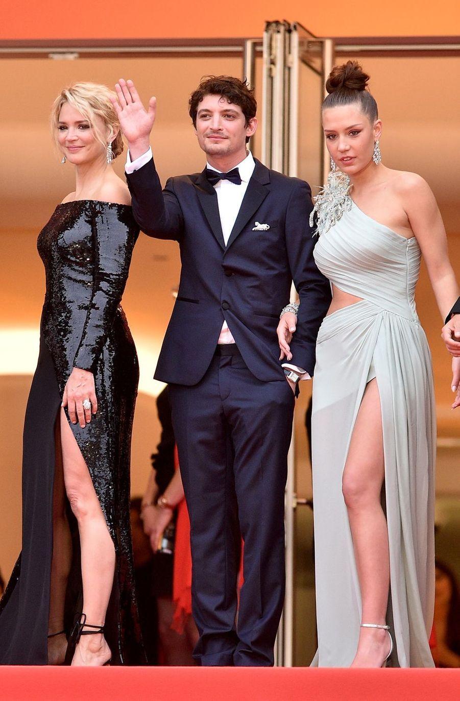 Virginie Efira, Niels Schneider etAdèle Exarchopoulos à Cannes, le 24 ami 2019