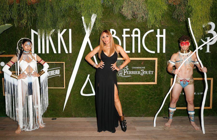 Cathy Guetta à la soirée des 20 ans de Nikki Beach à Cannes le 22 mai 2019