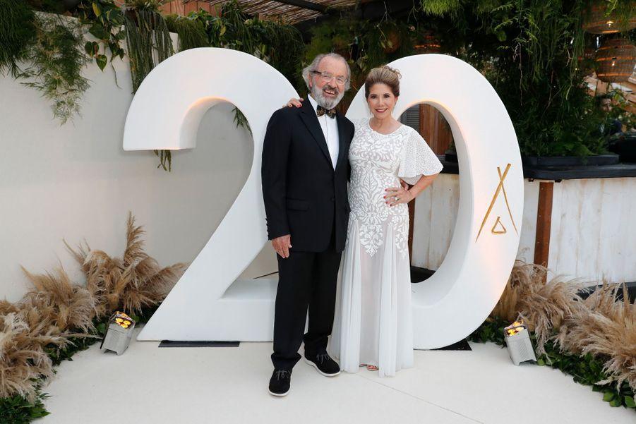 Jack Penrod et Lucia Penrodà la soirée des 20 ans de Nikki Beach à Cannes le 22 mai 2019
