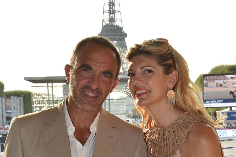 Nikos Aliagas et Tina Grigoriou au Longines Paris Eiffel Jumping, samedi à Paris