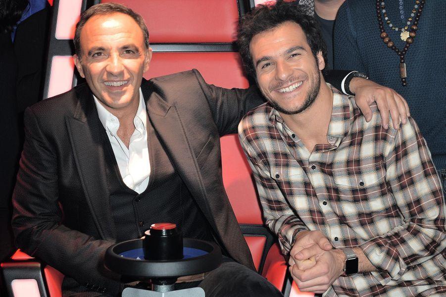 Nikos Aliagas et le chanteur Amir.