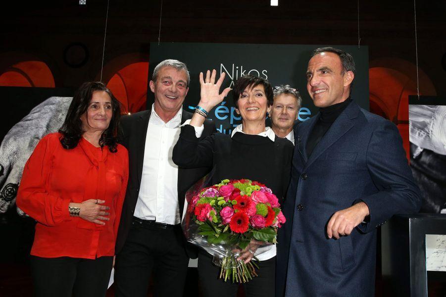Nikos Aliagas et les parents de Grégory Lemarchal
