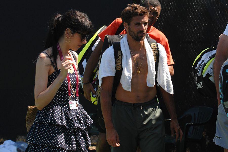 Nolwenn Leroy et Arnaud Clément après une séance d'entraînement, 2010.